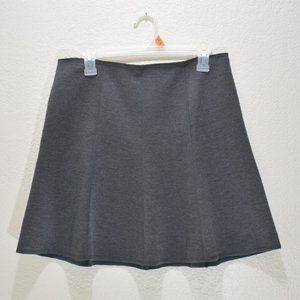Ann Taylor A-Line Gray Mini Skirt